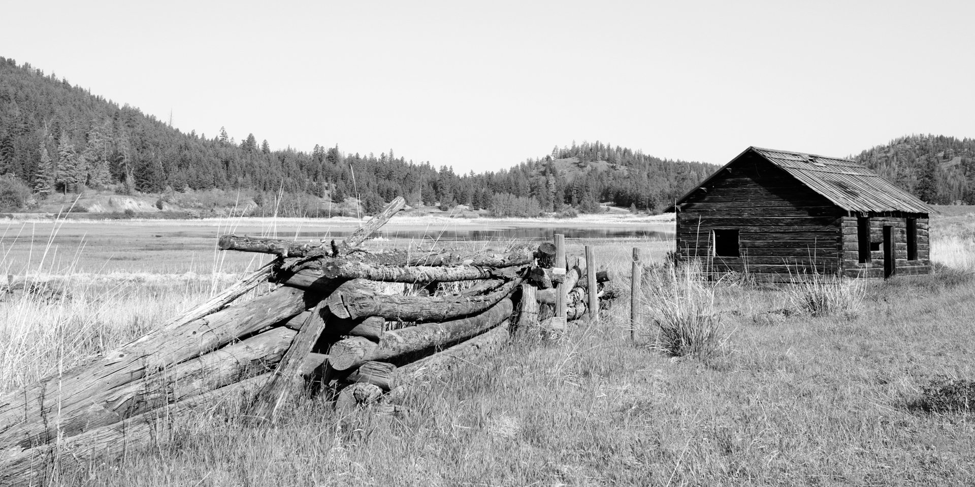 Abandoned Cabin and Corral