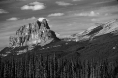 Castle Mountain 1 BW